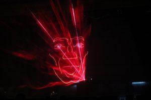 die Lasershow - 3D-Effekt durch Lasergaze